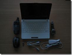 Eee 1005HA with Logitech VX NAnoGarmin GPSMap60C & Polar S720i