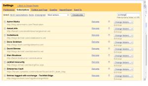 Google Reader Exchange Folder