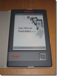 opening the user manual